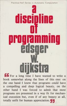 A Discipline of Programming: Edsger W. Dijkstra: 9780132158718: Amazon.com…