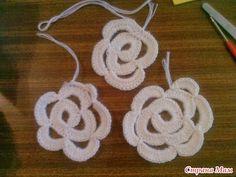 Irish crochet &: Плоские розы МК