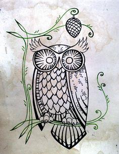 Owly before colouring by eatmysik on DeviantArt