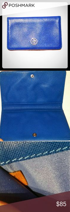 Tory Burch Bifold Wallet Tory Burch Blue Bifold Wallet. Authentic.  New without tags. Tory Burch Bags Wallets