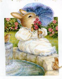 Susan Wheeler Susan Wheeler, Bunny Painting, Fabric Painting, Peter Rabbit, Beatrix Potter, Bunny Art, Arte Popular, Woodland Creatures, Cartoon Pics