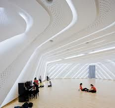 zaha hadid interior design - sala de dança