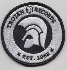 Trojan Records since 1968 Patch White [] - - Antifa - Ska - Punk