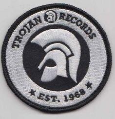 Trojan Records since 1968 Patch White [] - - Antifa - Ska - Punk Skinhead Tattoos, Ska Punk, Sounds Good To Me, Rude Boy, White P, Reggae Music, Bob Marley, Tattoo Inspiration, Girls