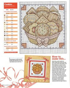 cookie basket cross stitch pattern