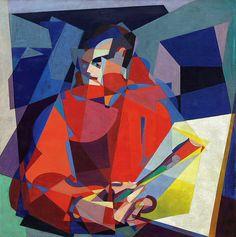 Enrico Prampolini. Italian futurist painter. Fantastic self-portrait