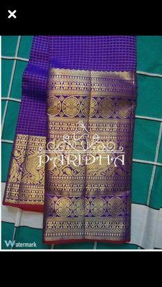 Shades of Violet Kanjivaram Sarees Silk, Indian Silk Sarees, Kanchipuram Saree, Pure Silk Sarees, Indian Dresses, Indian Outfits, Online Saree Purchase, Pattu Sarees Wedding, Saree Blouse Neck Designs