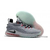 "new arrival 4a99a a0d47 Nike LeBron 15 Low ""Flight Pack"" Cool Grey Black-Teal Tint-Sunset Pulse Best"