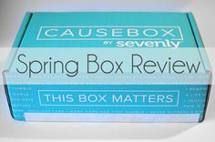 Causebox Review: Spring #Causebox02 The world's first subscription box for socially conscious goods - the CAUSEBOX by Sevenly. Here is my honest review of the second Causebox!