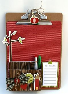 Organizer by Marie-Josee Hamel - Bella Blvd blog (cute idea for teacher gift)
