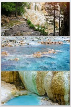 Natural tourism vacation hot spring health photography map#pikbest#photo