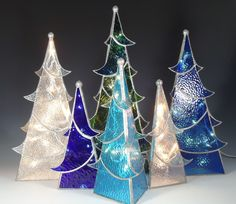 I saw these in Philly this weekend, they were really nice. From sunflower glass studios.