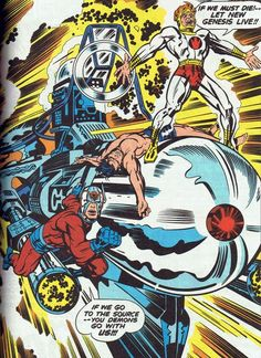 Jack Kirby. This may be my favorite comic panel from any comic I've ever looked at.