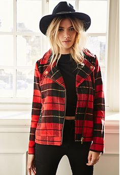 There is something about red plaid that is effortlessly cool. This Plaid Moto Jacket ($49.80) really livens up an all-black outfit, which is a devilishly delightful way to wear it.
