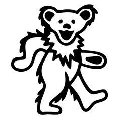 Jerry Bear Template Woodworking Grateful Dead Dancing