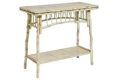 Flynn Console, Antiqued White