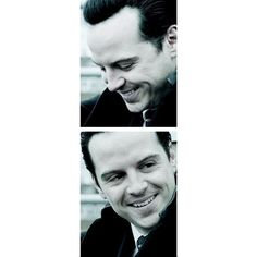 Moriarty Andrew Scott ❤ liked on Polyvore featuring sherlock