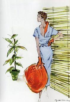1953 fashion illustration