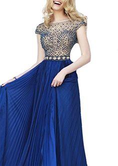 Baoji Women's Long Cap Sleeve V-Back Elegant Beading Chiffon Evening Dresses Prom Dresses 12 US Blue Baoji http://www.amazon.com/dp/B00Y7LFXPU/ref=cm_sw_r_pi_dp_cfqEvb1GH96QW