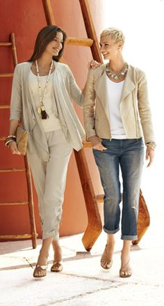 Cover Art: A shimmery moto. A sophisticated cardi. #DestinationFabulous #travel #summer #chicos