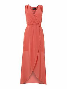 Sodamix Asymmetrical chiffon maxi dress