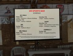 Find your games on the schedule and let's watch together at DR Sports Bar... www.diningroomcandidasa.com #candidasa #Bali #baliguide #sportsbar #game #schedule #nrlfinals #aflfinals #epl #rugby #formula1