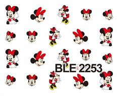 1 Sheet Nail Sticker BLE2253 Red Cartoon Nail Art Water Transfer Sticker Decal Sticker For Nail Wraps-in Stickers & Decals from Health & Beauty on Aliexpress.com | Alibaba Group
