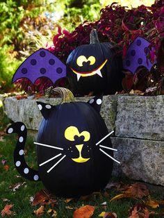 no carve pumpkin ideas for kids halloween decor