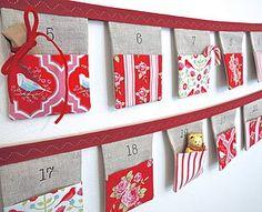 Handmade Advent Calendar Bunting