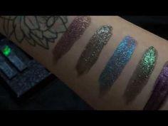 Black Moon Cosmetics Cosmic Eye dust swatches - by Spooky Beauty via Youtube