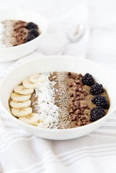 Superfood Chocolate Smoothie Bowl - Gluten free, dairy free, refined sugar free, and packed with vitamins and nutrients.