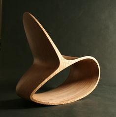Ocean Rocker: Ode chairs by Jolyon Yates sedia a dondolo ITA Plywood Furniture, Unique Furniture, Contemporary Furniture, Furniture Design, Furniture Ideas, Furniture Stores, Target Furniture, Furniture Makers, Cheap Furniture