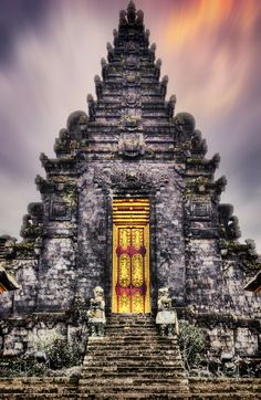 Besakih Temple Detail, Bali by Eric Edouard Amilhat - Besakih Temple, known as Bali's 'Mother Temple' for over 1,000 years, sits 1,000 metres high on the southwestern slopes of Mount Agung.