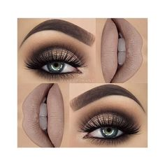 5 Makeup Styles for People with Green Eyes ❤ liked on Polyvore featuring beauty products, makeup and eye makeup