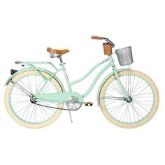 "Huffy 26"" womens girls mint green crusier road bike bicycle single speed 