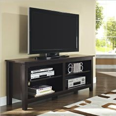 WE Furniture Wood TV Stand, 58-Inch, Espresso http://suliaszone.com/we-furniture-wood-tv-stand-58-inch-espresso/