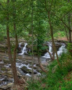 HDR image of Cove Creek Cascades along Wears Valley Road, Sevier County, Tennessee.
