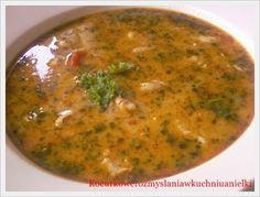 Zupa pełna smaku gyrosa,kolendry i papryki.Bardzo lubię takie zupy,dają moim