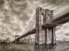 Brooklyn Bridge. This piece of architecture is perfect for black-and-white photography.