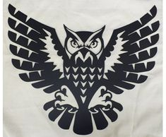 owl with open wings and claws. black and white tattoo of eagle owl front view. qualitative vector illustration for circus sports mascot zoo wildlife nature etc. it has only solid color Owl Embroidery, Embroidery Designs, Machine Embroidery, Clipart, Buho Logo, Tattoo Snake, Buho Tattoo, Zentangle, Owl Wings