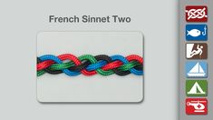 The French Sinnet One uses four strands to make a pleasing flat sinnet with close packed oblique strands.