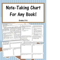 3-6 Free Resources: Free Note-Taking Graphic Organizer for Any Book