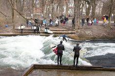 EISBACH: River Surfing in Munich