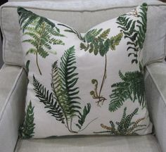 Schumacher Fabric Pillow Cover in Les Fougeres British Colonial Bedroom, Schumacher, Decorative Pillows, Pillow Covers, Throw Pillows, Floral, Fabric, Ebay, Home Decor