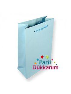 Mavi Kağıt Çanta (17x24cm)