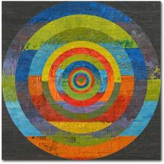 Trademark Fine Art Full Circle Canvas Art by Michelle Calkins, Size: 24 x 24, Green