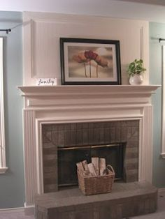 Yet another fireplace makeover (this looks alot like our fireplace)