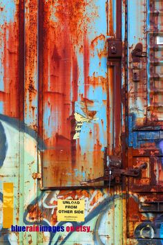 No More No Less, Graffiti Art, Urban Art, Street Art, Urban Decay, Rust Photography by bluerainimages on Etsy