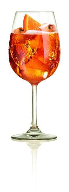 Aperol Spritz. Everyone and I mean EVERYONE in Italy was drinking this!