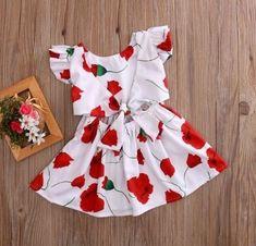 Vestido Infantil Rosas Frete Grátis!!!